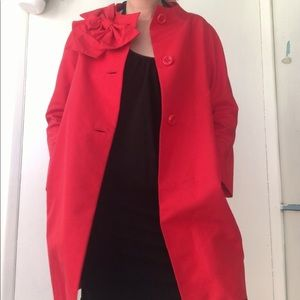 Kate spade red bow neck coat